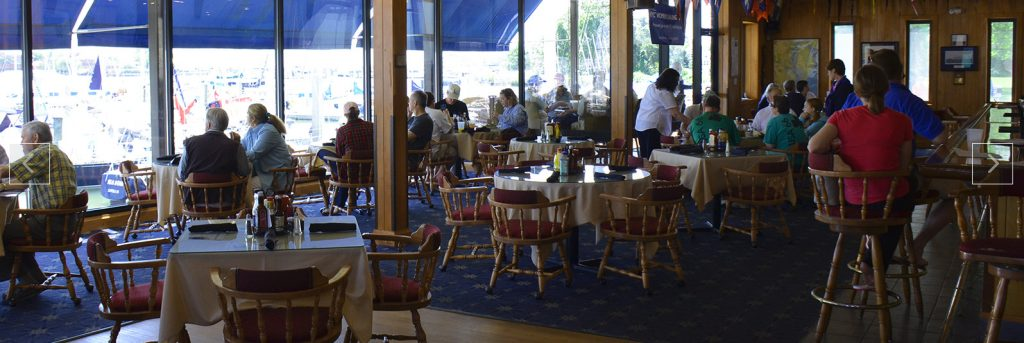 Dockside lounge with waterview at HYC, Hampton, Virginia