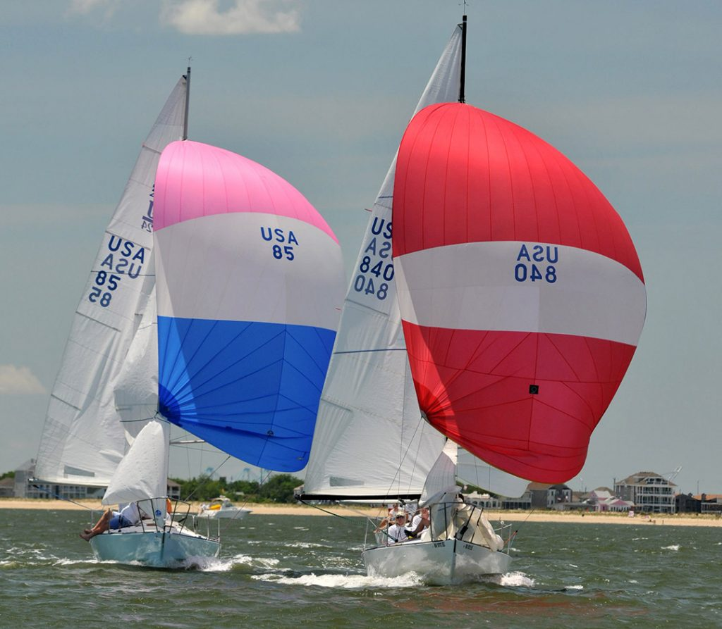 J24 Fleet racing at Hampton Yacht Club