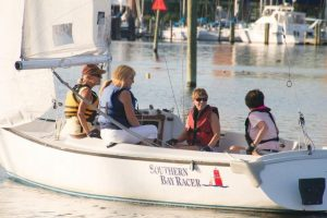 Friday Womens Sailing team racing the sonar