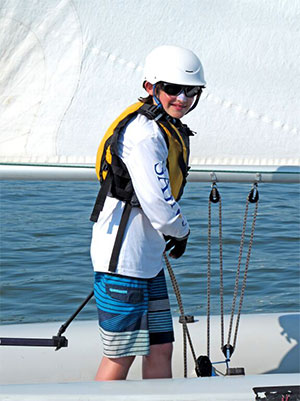 Highschool sailing sailor at Hampton Yacht Club