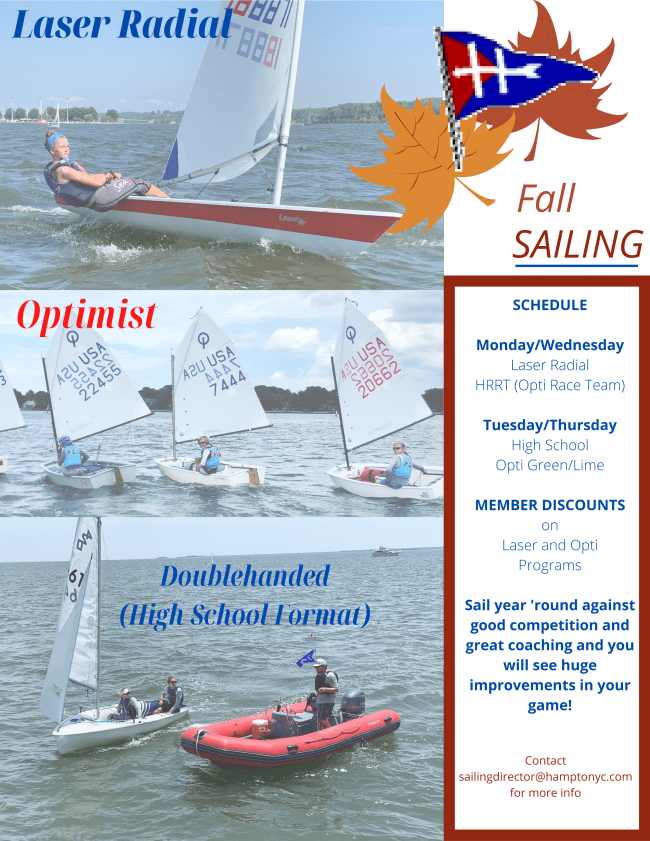 2020 Junior Fall Sailing