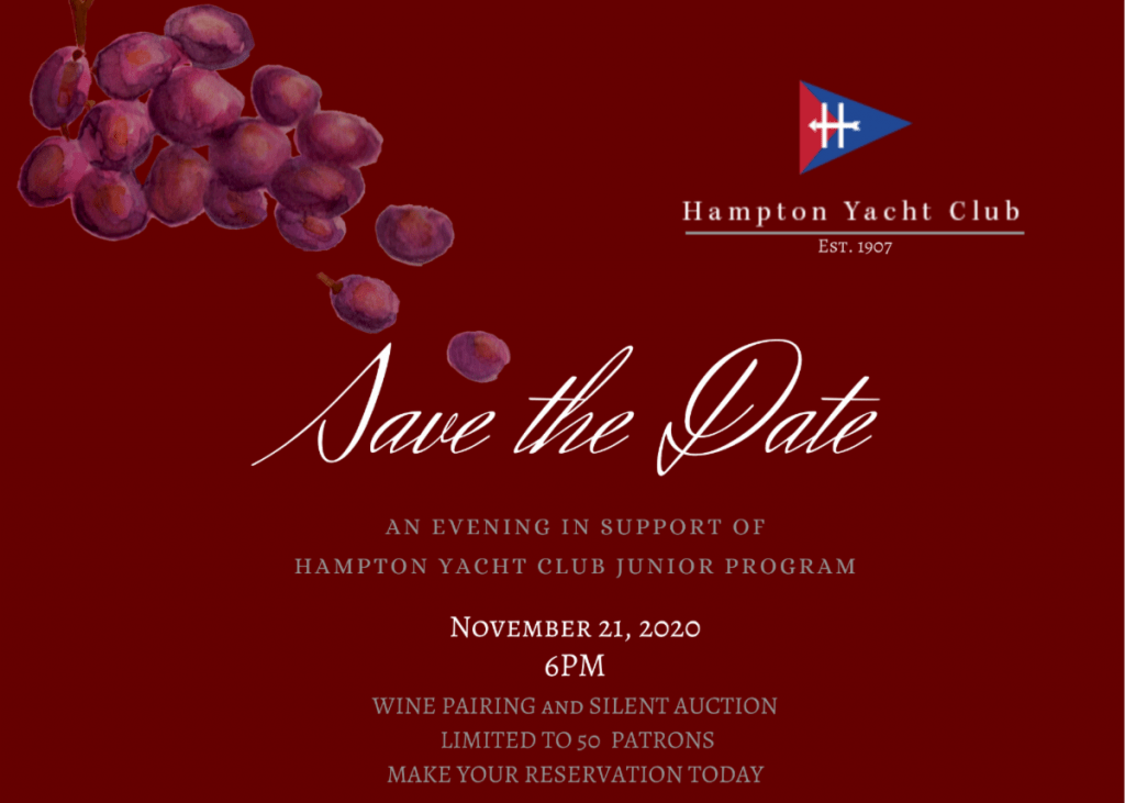 An EVENING IN SUPPORT OF HAMPTON YACHT CLUB JUNIOR PROGRAM